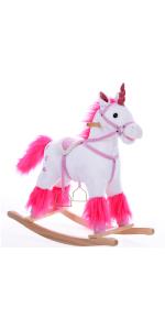 Deuba Balancín Mecedora Unicornio con Sonidos Soporte de ...