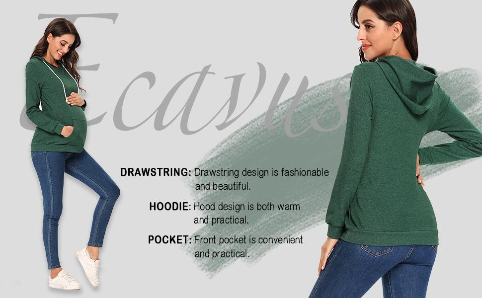 Ecavus Womens Fleece Maternity Nursing Sweatshirt Hoodie Zip Up Pullover Breastfeeding Top With Pocket At Amazon Women S Clothing Store