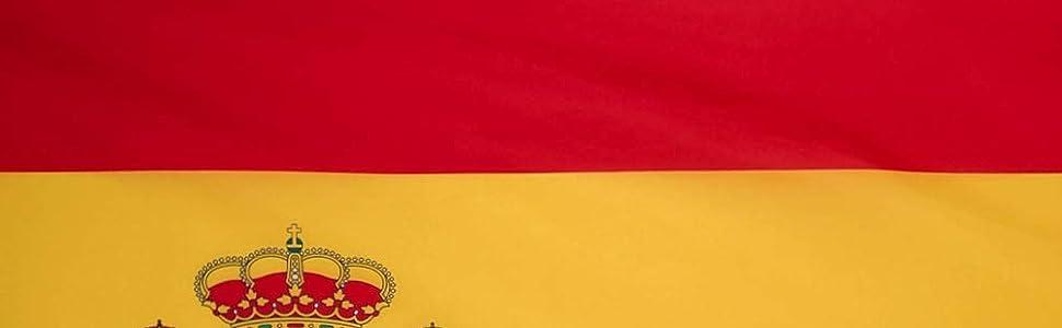 Ericraft Bandera de España Grande 90x150cms Bandera de España balcón para Exterior Reforzada y con 2 Ojales metálicos, Bandera España Grande Spanish Flag: Amazon.es: Jardín