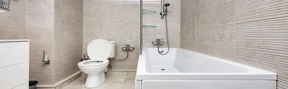 Platte siliconen toiletborstel met houder
