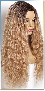 blonde wig curly