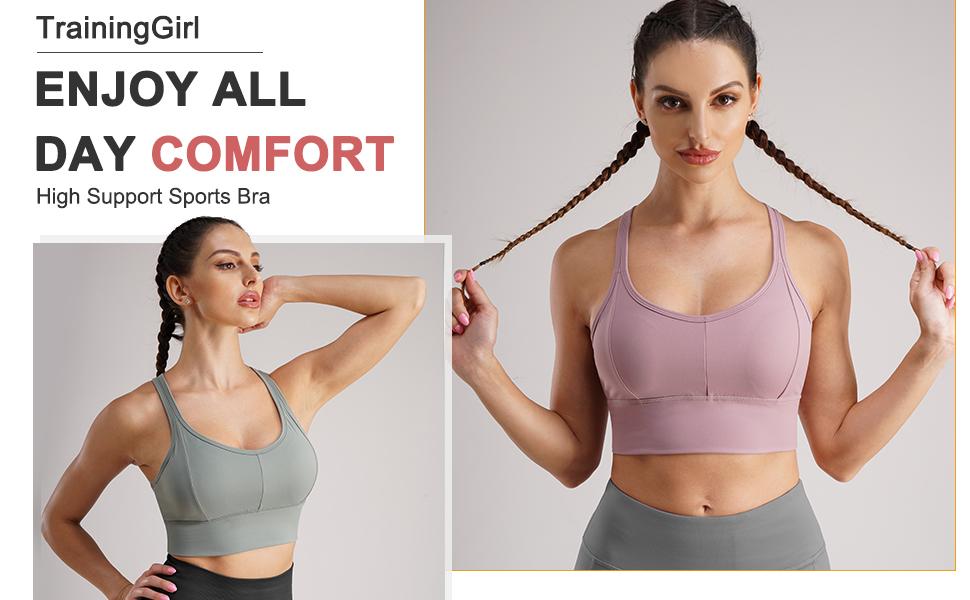 Femmes soutien à Lanières Dos Geo Sports Yoga Impact moyen Running Bra