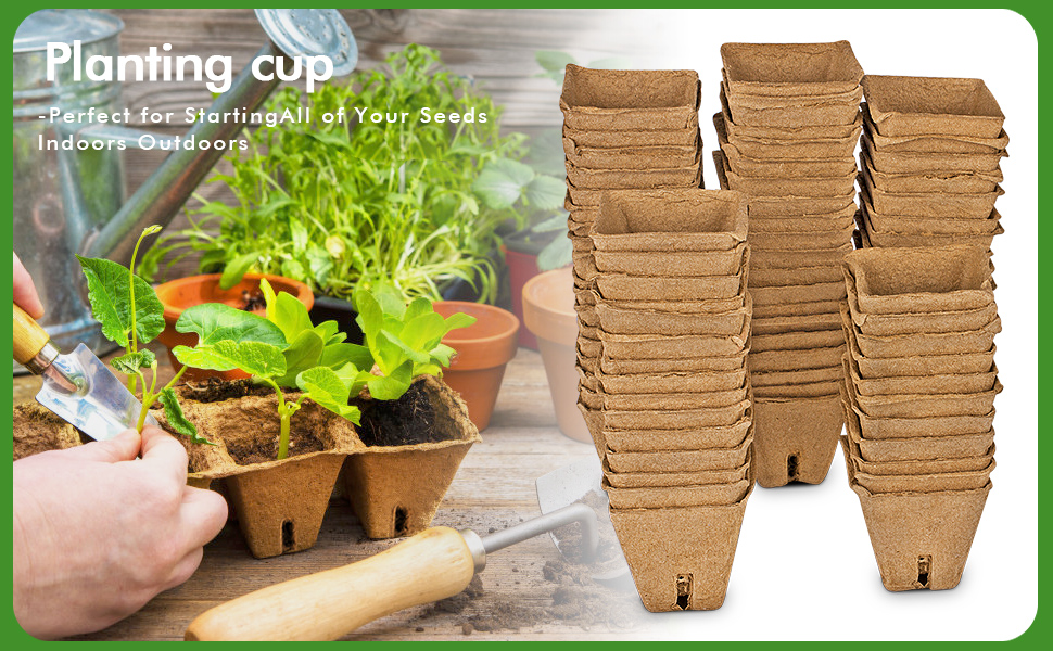 Germination Tray is Biodegradable Fruits and Vegetables Can Cultivate a Variety of Flowers HAOFANG Seed Starter Peat Pot Kit 100/% Environmentally Friendly Materials.