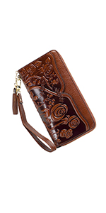 Floral Wallet Wristlets