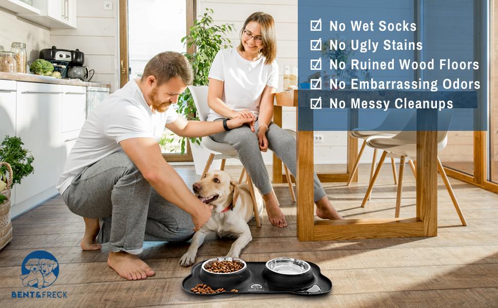 dog bowl mealtimes mess-free
