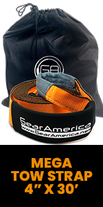 Mega Strap, Recovery Strap, off-road Recovery, GearAmerica