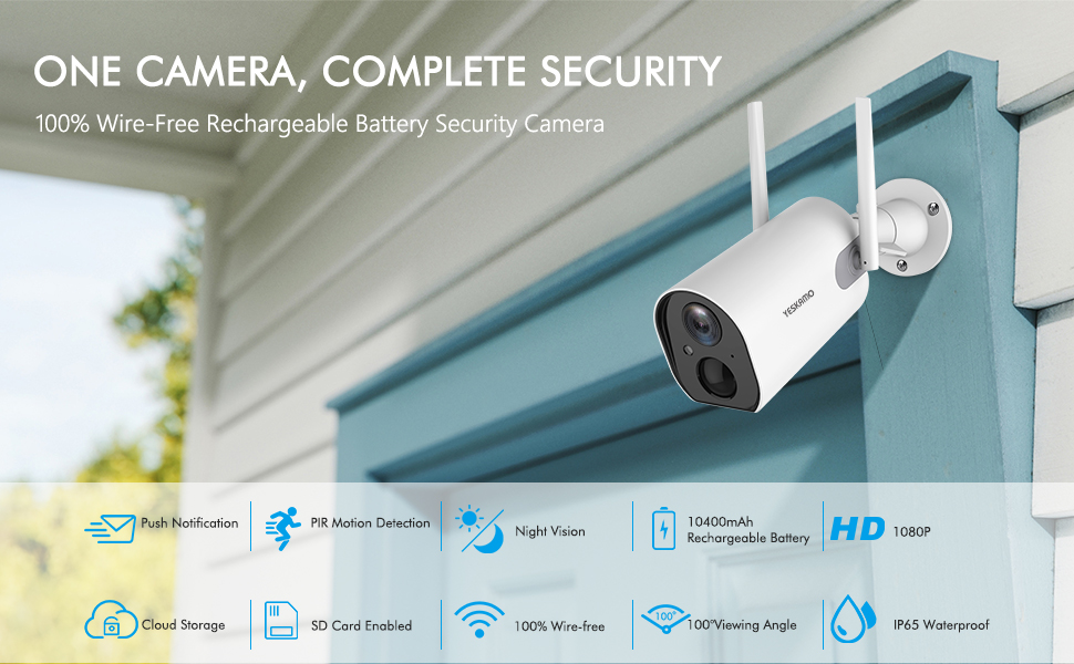 battery powered security camera