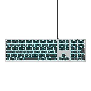 magic silent quiet aluminum low profile soft touch illuminated membrane gaming RGB numeric keypad