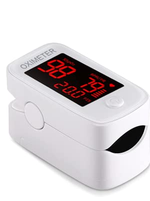 White Fingertip Pulse Oximeter