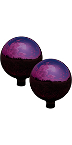 merlot gazing globe ball, set of 2
