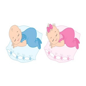 Baby girl and baby boy sleeping bag