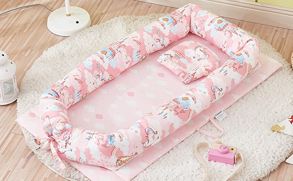 PinkCloud/'s baby nest nest nest cocoon uni terry tea different colors baby nest parlor wagon cradle