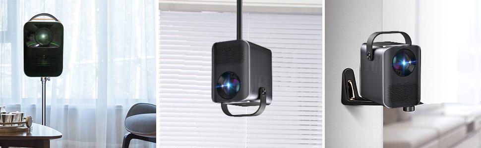 el proyector 4K unicview fhd1000 es compatible con instalación a techo, base o soporte de pared