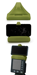 Green phone holder