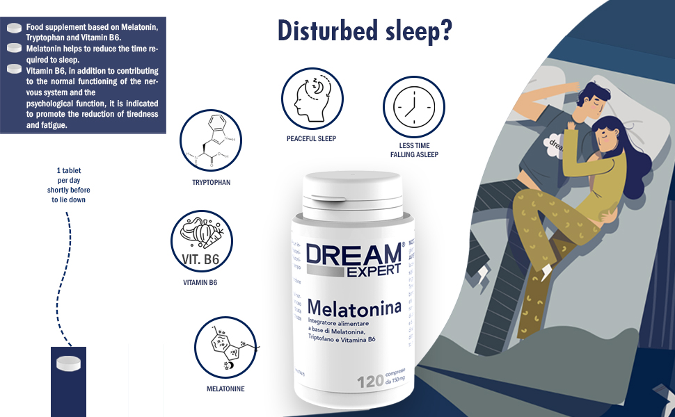 Dulàc - Dream Expert - 120 tabletas - Suplemento con Melatonina (1 ...