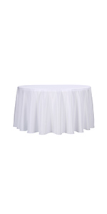 White round rablecloth