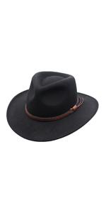 Outback Wool Cowboy Hat Men Women