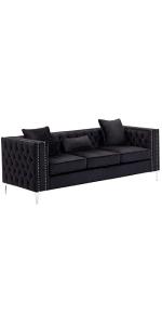 Black Living Room Sofa