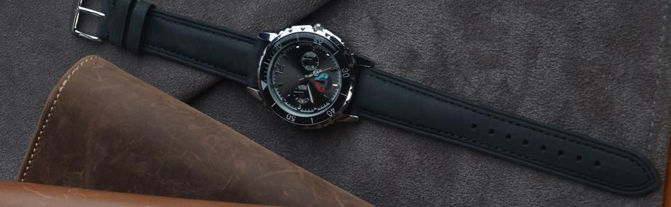 bracelet montre cuir 14mm 15mm 16mm