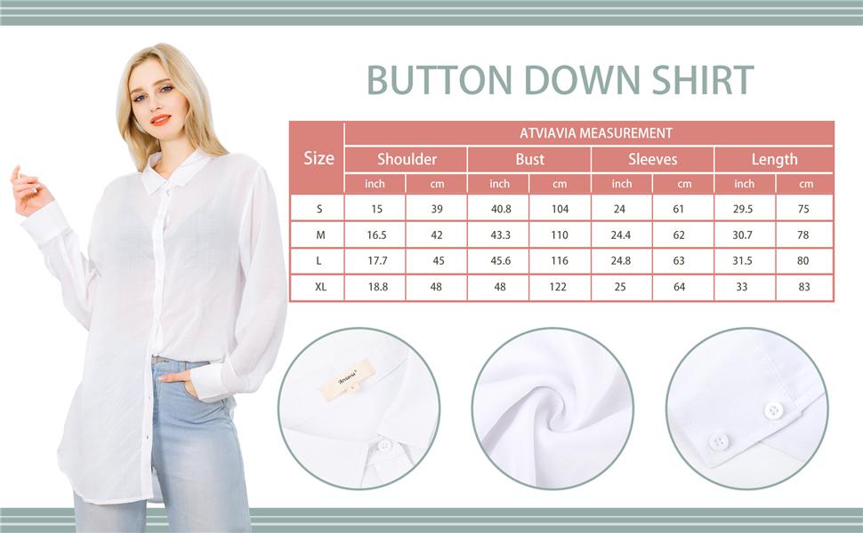 long sleeve button down shirts for women