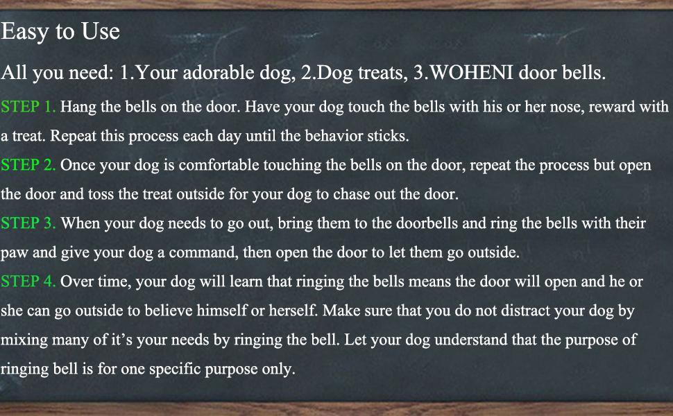 dog bells for potty