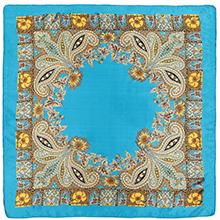 Blue Floral pattern head scarf