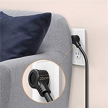 low profile flat wall plug