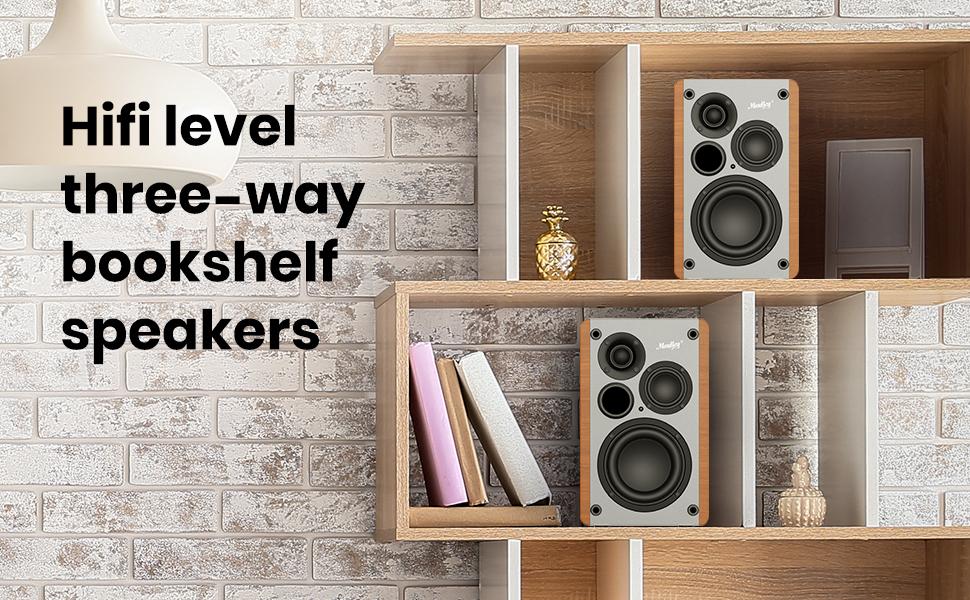 bluetooth 5.0 3 way bookshelf speaker