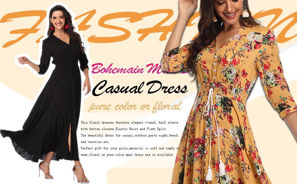 boho casual dresses