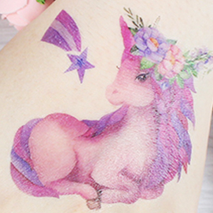 Fanoshon Child Small Unicorn Tattoo Sticker
