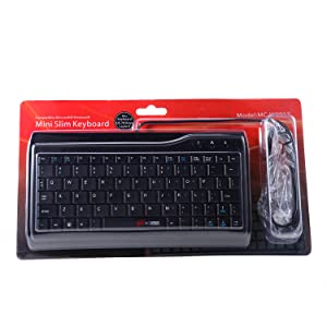 MCSaite Full Size 78 Keys Keypad Small Portable Fit with Professional or Industrial Use for Computer Laptop Mac Notebook Super Mini Wired Keyboard