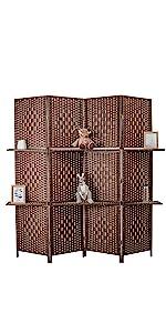 room divider with shelf