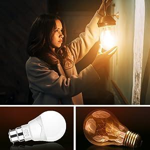 4D64 Flame Effect Lamp E27 E14 3W Decoration LED Edison Light Bulb Living Room