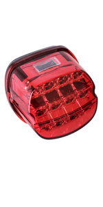 Harley Red LED Tail Light Brake Light Integrated with Turn Signals License Plate Light