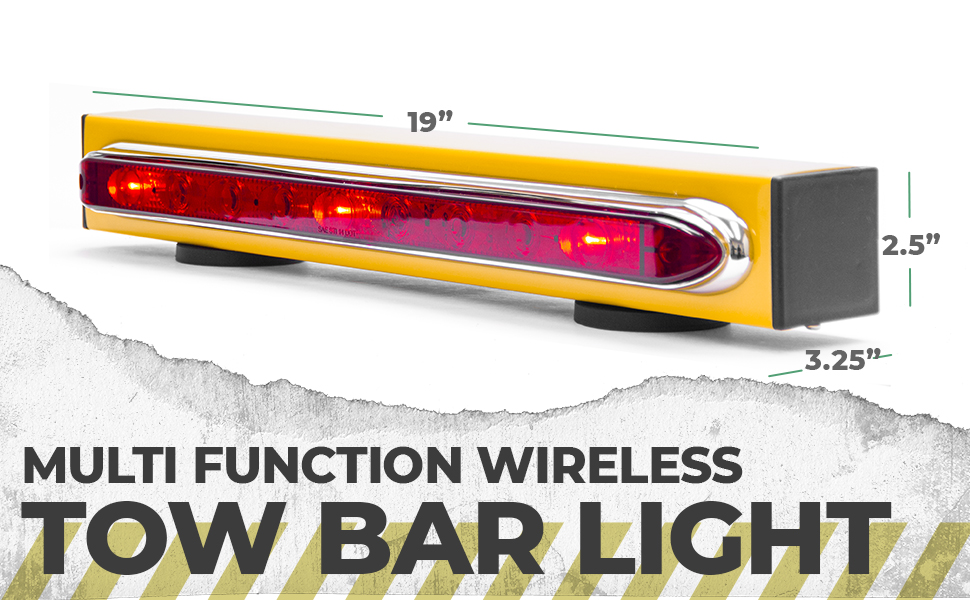 multi function wireless tow bar light