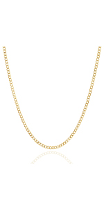 Jewelry Atelier Gold Filled Miami Cuban Curb Link Chain Necklace
