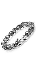 single pixiu silver bracelet