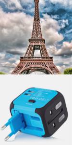 travel adapter international power adapter european travel plug adapter universal