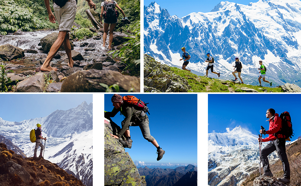 Knixmax-Zapatillas de Montaña para Mujer, Zapatos de Senderismo Calzado de Trekking Escalada Aire Libre Zapatos Low-Top Impermeable Antideslizante Zapatos de Trekking (Marrón, Gris): Amazon.es: Zapatos y complementos