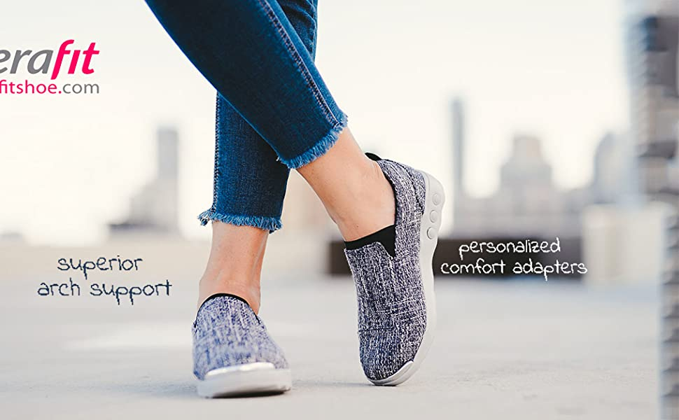 Therafit Selena Lite Women's Arch Support Slip-on Shoe - for Plantar Fasciitis/Foot Pain