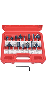 15PCS Fresa Cortador enrutador Set 8mm Molino de Ca/ña Herramienta de Cortadores de Madera para el Piso de Corte de Grabado Hecho A Mano