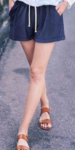elastic waist shorts for women 2x shorts women womens elastic waist blue shorts shorts for women