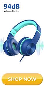 kids headphones for boy childrens headphones wired headphones study headphones on ear headphones