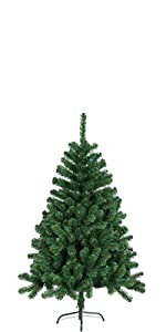 Hiskol 150cm künstlicher Weihnachtsbaum Christbaum Tannenbaum PE Spritzguss 1,5m