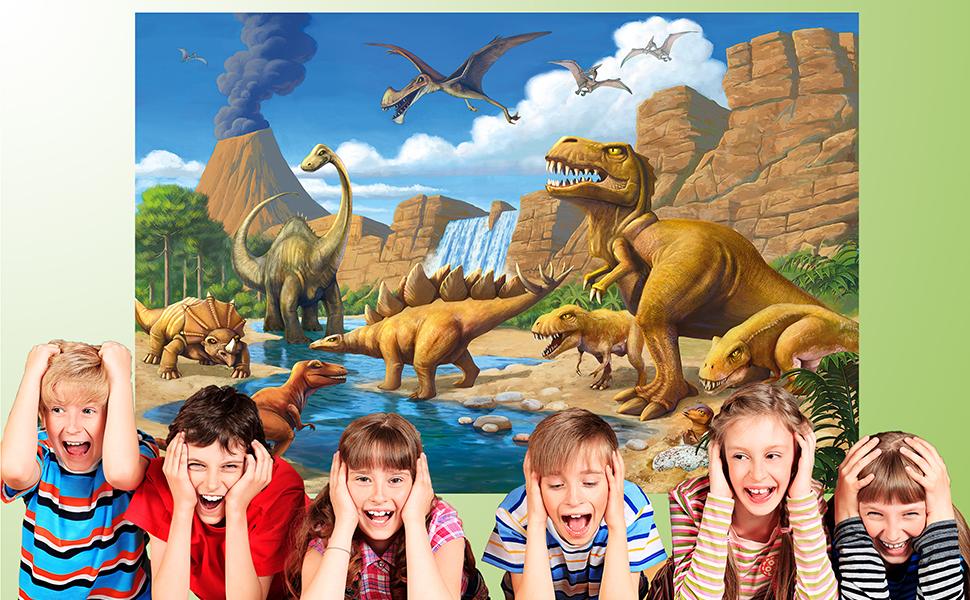 Bordi Dinosauri 15cm x 200cm Autoadesivo Cameretta Dei Bambini Murale Bebé Y033