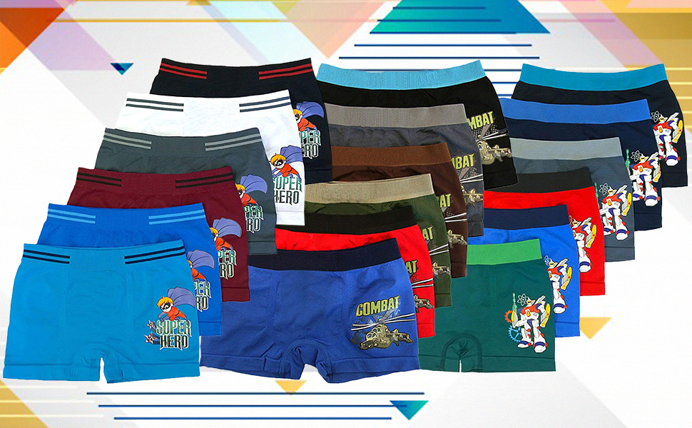 ToBeInStyle Boys Pack of 6 Seamless Boxer Briefs Soccer Goal!
