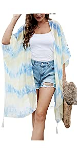 Tie Dye Kimono Cardigan