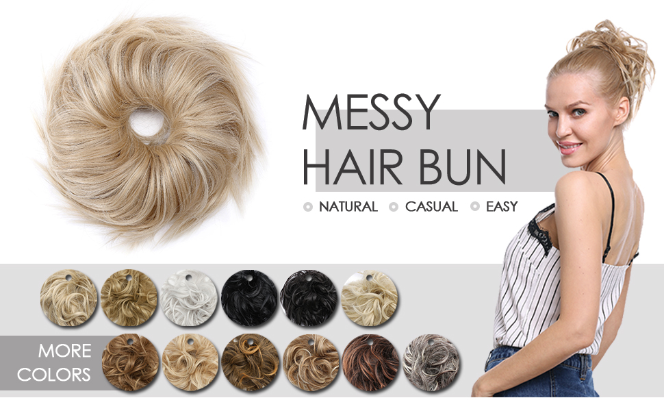 Hairro messy hair bun is super easy to use, have 13 colors