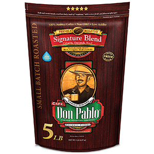 5 LB Don Pablo Signature Blend - Whole Bean Coffee