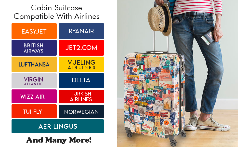 cabin suitcase with large suitcase